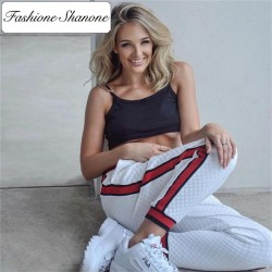 Fashione Shanone - Jogging pants with red stripes