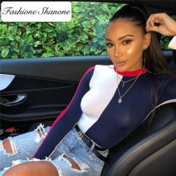 Fashione Shanone - Body tricolore manches longues