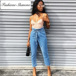 Fashione Shanone - High waist jeans with belt