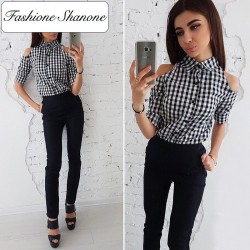 Fashione Shanone - Shirt with open shoulders