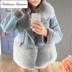 Fashione Shanone - Manteau perfecto avec fourrure