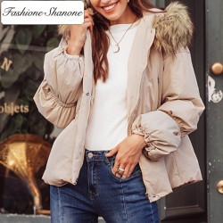 Fashione Shanone - Down coat with fur hood