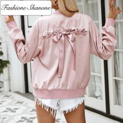 Fashione Shanone - Bomber rose en satin