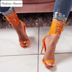 Fashione Shanone - Lace up heeled sandals