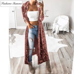 Fashione Shanone - Long kimono en velours