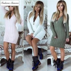 Fashione Shanone - Sweater dress with zipper