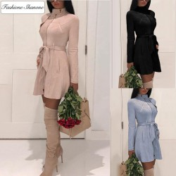 Fashione Shanone - Manteau en daim cintré