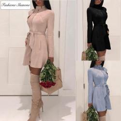 Fashione Shanone - Waisted suede coat