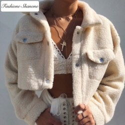 Fashione Shanone - Veste courte laine d'agneau