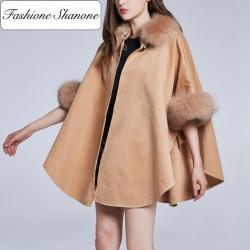 Fashione Shanone - Cape avec fourrure