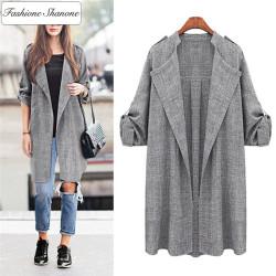 Fashione Shanone - Long loose jacket
