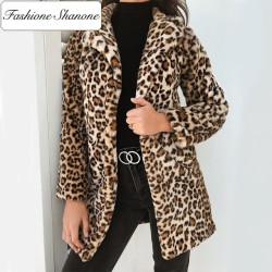 Fashione Shanone - Manteau en fourrure léopard