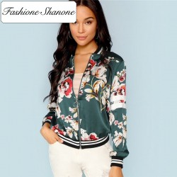 Fashione Shanone - Bomber fleuri