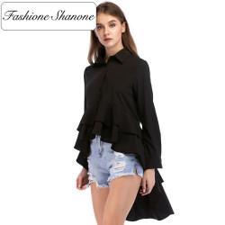 Fashione Shanone - Ruffle high low blouse