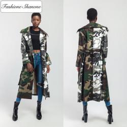 Fashione Shanone - Long manteau militaire