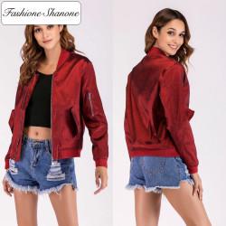 Fashione Shanone - Bomber rouge