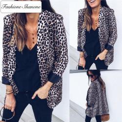 Fashione Shanone - Leopard blazer