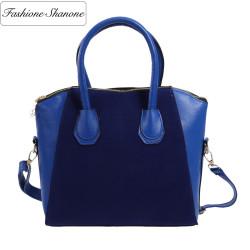 Bi material handbag