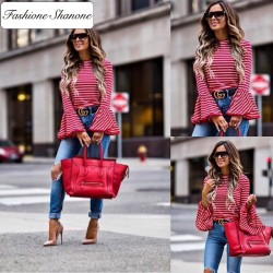 Fashione Shanone - Flared long sleeves T-shirt