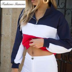 Fashione Shanone - Sweat court tricolore