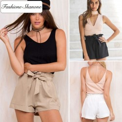 Fashione Shanone - Short taille haute avec ceinture