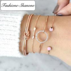 Fashione Shanone - Ensemble de bracelets cercle flèche