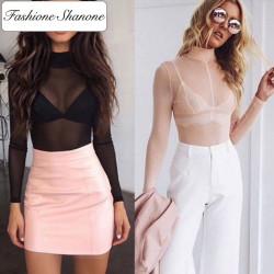 Fashione Shanone - Stock limité - T-shirt manches longues transparent