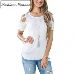 Fashione Shanone - Limited stock - Open shoulders T-shirt