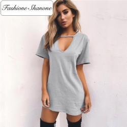 Fashione Shanone - Stock limité - Robe T-shirt décolletée