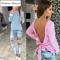 Fashione Shanone - Stock limité - Blouse avec dos décolleté