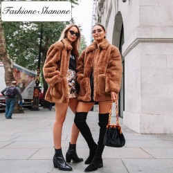 Fashione Shanone - Stock limité - Manteau en fourrure marron