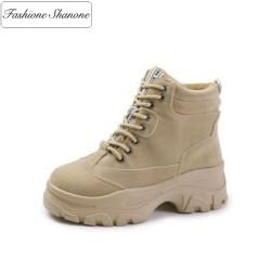 Fashione Shanone - Stock limité - Chaussures d'hiver à lacet plateformes
