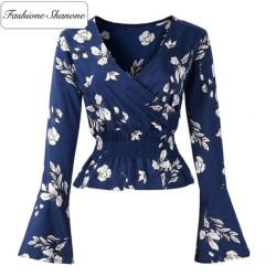 Fashione Shanone - Stock limité - Blouse avec manches froufrou