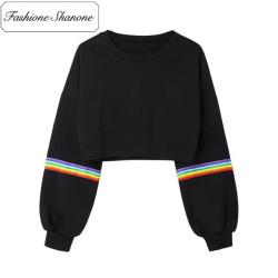 Fashione Shanone - Stock limité - Sweat avec bande arc-en-ciel