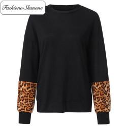 Fashione Shanone - Stock limité - Sweat noir et léopard