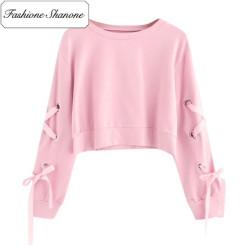 Fashione Shanone - Stock limité - Sweatshirt rose à lacet