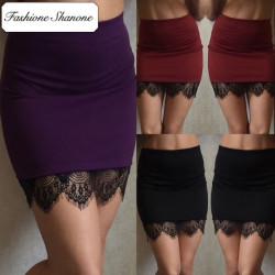 Fashione Shanone - Stock limité - Mini jupe moulante avec dentelle