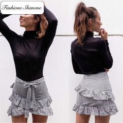 Fashione Shanone - Stock limité - Mini jupe vichy à froufrou