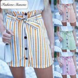 Fashione Shanone - Limited stock - Striped high waist skirt