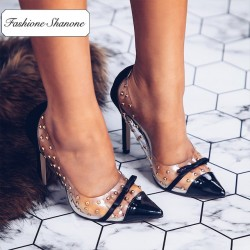 Fashione Shanone - Stock limité - Escarpins transparents à rivets