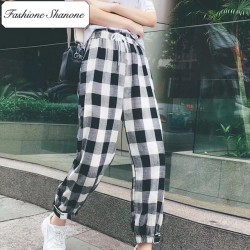 Fashione Shanone - Stock limité - Pantalon large plaid