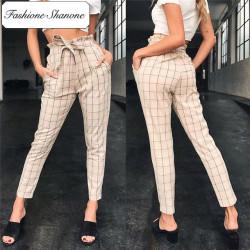 Fashione Shanone - Limited stock - Plaid carrot pants