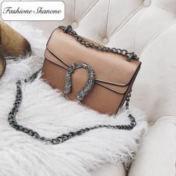 Fashione Shanone - Stock limité - Sac à main en cuir avec bandoulière en chaîne