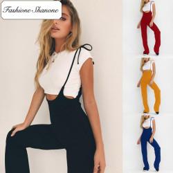 Fashione Shanone - Stock limité - Pantalon taille haute à bretelles