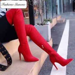 Fashione Shanone - Limited stock - Pointed toe over the knee boots
