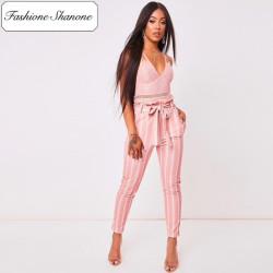 Fashione Shanone - Stock limité - Pantalon rose taille haute