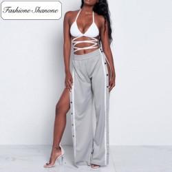 Fashione Shanone - Stock limité - Pantalon de jogging avec boutons sur les côtés