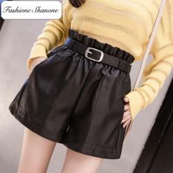 Fashione Shanone - Stock limité - Short taille haute en cuir