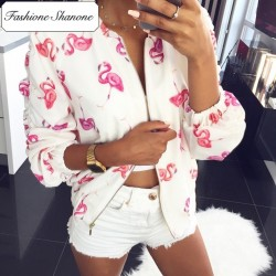 Fashione Shanone - Stock limité - Bomber flamant rose
