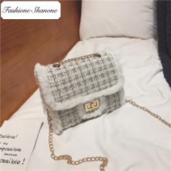 Fashione Shanone - Stock limité - Sac bandoulière en laine tweed